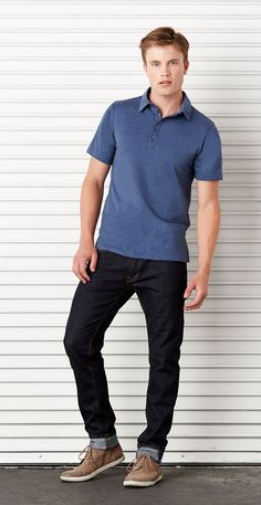Bella canvas' jersey polo has a fashion-forward, retail fit