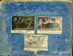 """Scener fra kahytt og lugar ombord jekten """"Haabet"""", 10 september 1849   Flickr: partage de photos!"""