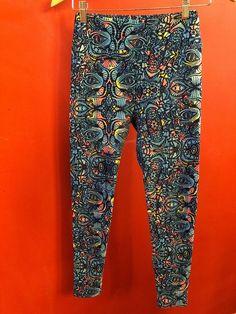 Curvy Camouflage Leggings Plus Size Pants Soft TC Blues /& Black CAMO! 10-18