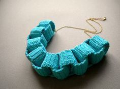 crocheted chain necklace. Inspiration