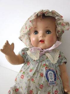 VTG RARE COMPOSITION BABY DOLL Libby & Novelty Co. 1930s Elaine BEAUTIFUL! CHIC