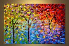 pinturas de arboles al oleo para decorar