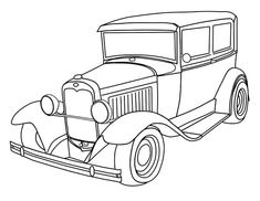 Vintage Car Coloring Pages - Cars coloring pictures are here just for you to print and color. There are racing car coloring, sports car coloring, through coloring cars, and then w. Race Car Coloring Pages, Free Adult Coloring Pages, Cartoon Coloring Pages, Coloring Pages To Print, Coloring For Kids, Printable Coloring Pages, Colouring Pages, Coloring Books, Coloring Sheets