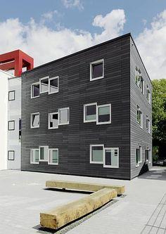 fibreC - öko skin - fibre cement boards, nice proportions: