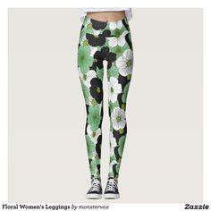 Floral Women's Leggings #Leggings #Pant #Yoga #Sports #Sportswear #Athletic #Athleticwear #Activewear #Fashion