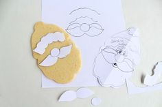for future reference: using stencils || Santa Cookies with my New Favorite Cutter