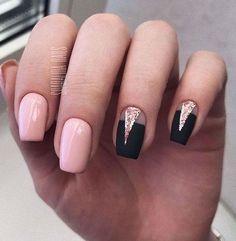 Gelish Nails, Diy Nails, Cute Nails, Pastel Nails, Acrylic Nails, Sophisticated Nails, Nail Salon Design, Short Square Nails, Short Nails Art