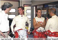 """Sebastian Stahl (* 20.9.1978 in Bonn) ist ein deutscher Automobilrennfahrer und Stiefbruder v. Michael Schumacher.  Stahls Mutter Barbara ist mit Rolf Schumacher, dem Vater von Michael und Ralf Schumacher, liiert. Michael Schumacher und Sebastian Stahl kennen sich bereits aus gemeinsamen Kartzeiten auf der Kartbahn in Kerpen-Manheim. Wegen seiner Beziehung zu den beiden Schumacher-Brüdern wird er von einigen Medienvertretern als """"Schumi 3"""" bezeichnet…"""