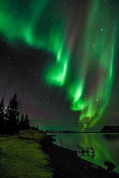 Curtain Aurora - Curtain shaped Aurora over Iceland