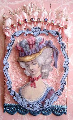 MARIE ANTOINETTE ATC CARD by terri gordon, via Flickr