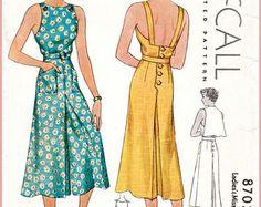 1940s 40s vintage Vogue sewing pattern bust 34 crop top