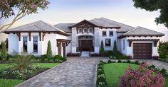House Plan 75966 | Coastal Florida Mediterranean Southern Plan with 4486 Sq. Ft., 4 Bedrooms, 5 Bathrooms, 3 Car Garage  PERFECTION!!!