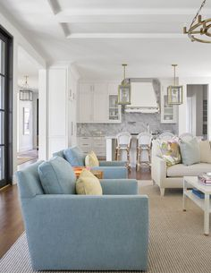 bright and colorful great room decor | interior design by jenkins interiors | home accessories from blue print | blueprintstore.com