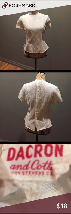 30's Style Fitted Blouse with Sparkle! This 30/40's style too has buttons up the back. It is lined and slightly fitted. Somewhat sheer. Tops Blouses