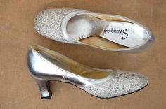 ☆New Listing☆ Vintage 1960s Silver Pumps! // by TrunkofDresses