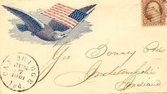 Eagle and flag.