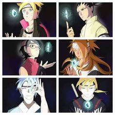 Boruto <3 Shikaida <3 Sarada <3 Chou-Chou <3 Mitsuki <3 Inojin <3