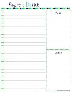 To Do Filofax Printables  Free To Do List Printable  Printables
