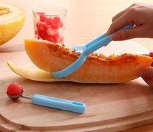 1 conjunto não machucar a mão de cozinha utensílios de cozinha Peeler Parer Slicer Gadget fruto skinner colher(China (Mainland))