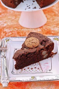 Torta al cioccolato, amaretti e pere - La Cuoca Dentro Chocolate World, I Love Chocolate, Chocolate Cakes, Sicilian Recipes, Sicilian Food, Italian Desserts, Sweet Cakes, Cake Cookies, Delicious Desserts