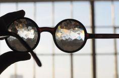 Heavy handmade Kaleidoscope glasses by someone called Future Specs