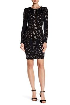 09743805eb1 Grommet Embellished Long Sleeve Dress Fashion Over 40