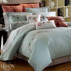 Lenox Chirp Queen Comforter Set, Blue by Lenox, Dream Bedroom, Master Bedroom, Bedroom Decor, Bedroom Ideas, Bedroom Stuff, Coral Bedroom, Bedroom Colors, Bedroom Inspiration, Blue Comforter Sets