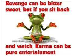 I am a true believer of what goes around comes around. I witnessed someone get his comeuppance and it was true karma! Frog Quotes, Karma Quotes, Funny Quotes, Humor Quotes, Qoutes, Funny Frogs, Cute Frogs, Frog Pictures, Frog Art
