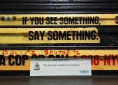 computer error message street art