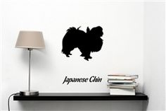 Japanese Chin Silhouette Vinyl Wall Art Decal Sticker $12.99