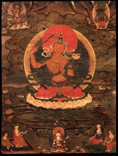 Manjushri #Thangka #Painting traditionalartofnepal.com