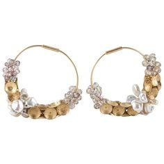 Donna Brennan Sapphire & Pearl 18ct Gold Earrings