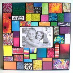 Mosaic Photo Frame by JanetsMosaics on Etsy, $25.00