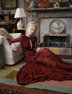"""""""The Lighthouse"""": Virginia Woolf and Bloomsbury Group-Inspired Shoot with Julia Nobis by Ben Toms for AnOther Magazine"""