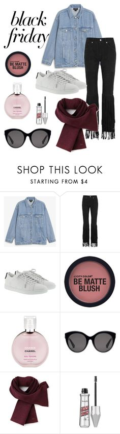 """""""Black friday"""" by amaryllis11 ❤ liked on Polyvore featuring Monki, McQ by Alexander McQueen, Yves Saint Laurent, Chanel, Gucci and Lacoste"""