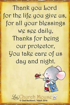 Thank you Lord, ......