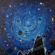 Wenzel Hablik, 1881 - 1934 Biography and Artworks | Starry sky