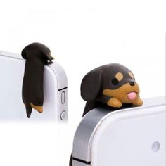 3 Dog AntiDust Ear Cap Kawaii Dachshund Puppy Mobile Phone Charm Jack Plug is part of Zara Home Accessories H&m - Zara Home, Dog Phone, Clever Dog, Ear Cap, Dust Plug, Dachshund Dog, Black Dachshund, Dachshunds, Doggies