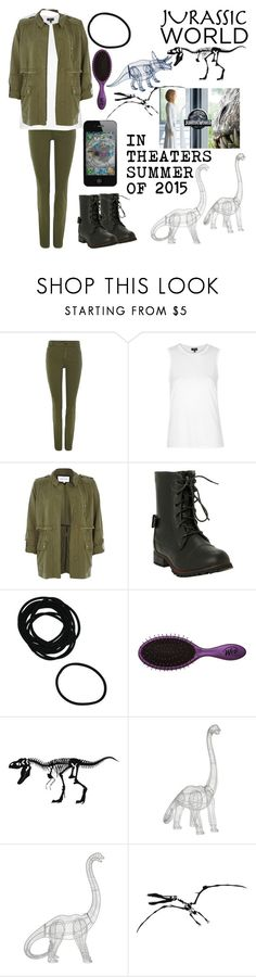 """""""Jurassic World"""" by i-found-wonderland ❤ liked on Polyvore featuring Oui, Topshop, River Island and Fab"""