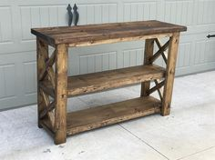 Rustic X Entry Way Console
