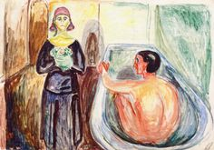 Edvard Munch - 1930, Marat in the Bath and Charlotte Corday