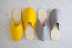 """Stacked Felt Slippers 