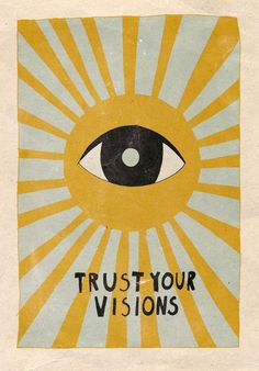 Trust your visions Mini Art Print by Asja Boros - Without Stand - 3 Art Du Collage, Photo Wall Collage, Poster Collage, Collage Ideas, Art Hippie, Hippie Drawing, Wall Prints, Poster Prints, Pop Art Posters