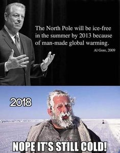 ❄️❄️❄️ Brrr it's still cold in 2019 Who really believes all these predictions, I am an American and can think for myself. Funny Memes, Hilarious, Funny Shit, Funny Stuff, Liberal Logic, Stupid Liberals, Politicians, Political Quotes, Political Topics