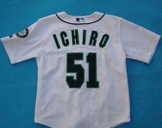 Ichiro Suzuki 51 Seattle Mariners 10 12 Youth MLB Russell Athletic Jersey  #RussellAthletic #SeattleMariners