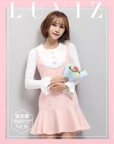 Lu Wei chaleco de seda del vestido del otoño del arco de las mujeres Hitz…