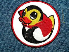Circular Dracula Duckie Iron on Patch by GerriTullis on Etsy, $9.00