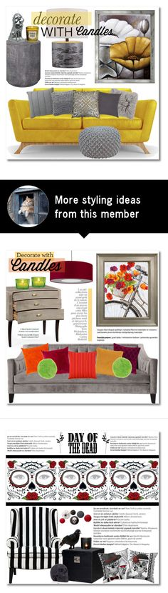 """""""Decorate With Candles"""" by chloe on Polyvore featuring interior, interiors, interior design, home, home decor, interior decorating, Trowbridge, Joybird Furniture, OKA and CB2"""