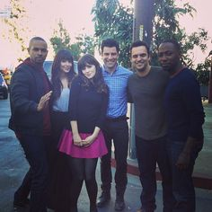 "Zooey Deschanel uploaded this photo to Instagram: | Proof That Damon Wayans Jr., AKA Coach, Is Really Returning To ""New Girl"""
