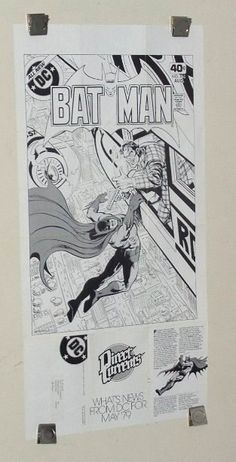 "Rare vintage original 1979 DC Comics ""Direct Currents"" comic book mail order foldout promotional fan newsletter with Batman poster: 1970's. SEE 1000's MORE RARE VINTAGE MARVEL AND DC COMICS SUPERHERO POSTERS AND COMIC BOOK ART PAGES FOR SALE AT SUPERVATOR.COM"